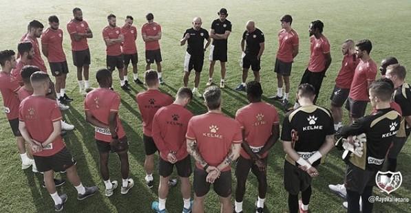Un entrenamiento del primer equipo | Foto: Rayo Vallecano S.A.D.