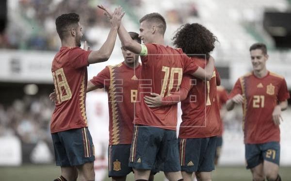La actual campeona europea sub-21 nos deleitó con fútbol de primer nivel | Fotografía: EFE