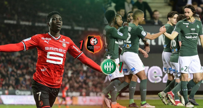 Ismaïla Sarr a répondu au premier but de Neven Subotic en Ligue 1. (Source : @DesignCsn sur Twitter)