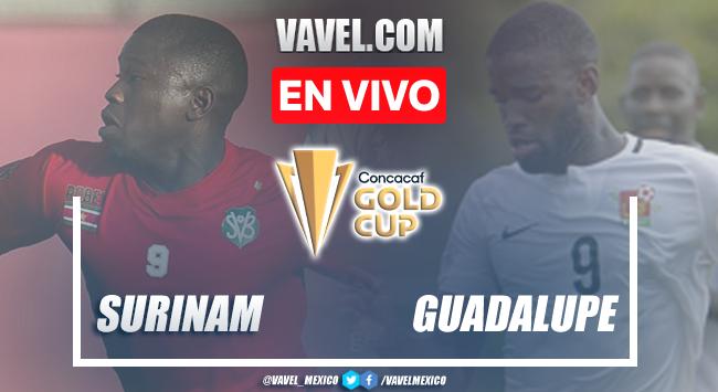 Goles y resumen del Surinam 2-1 Guadalupe en Copa Oro 2021