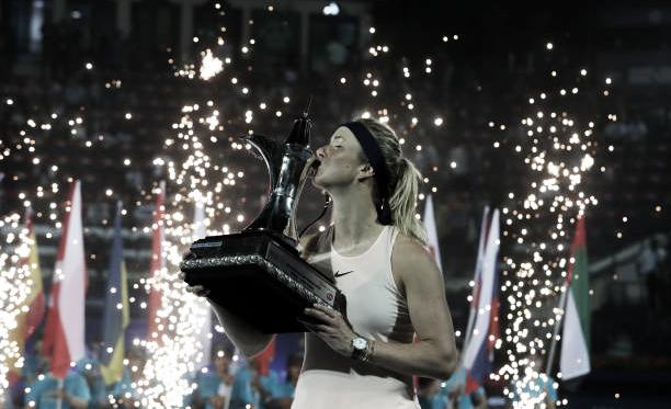 Elina Svitolina posa con su trofeo de campeona en la edición de 2018. Foto: gettyimages.es