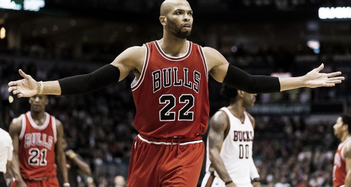 Taj Gibson is now a Thunder player, leaving the Bulls after seven and a half years | Jeff Hanisch - USA TODAY Sports