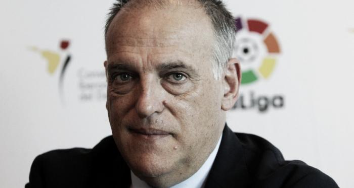 """Javier Tebas: """"El Málaga venderá jugadores y se resolverá el problema"""""""