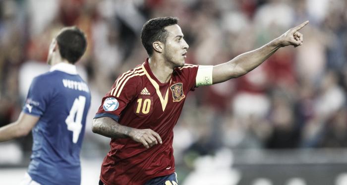 Trois buts et un nouveau sacre en Euro espoirs pour Thiago Alcantara (AP Images)