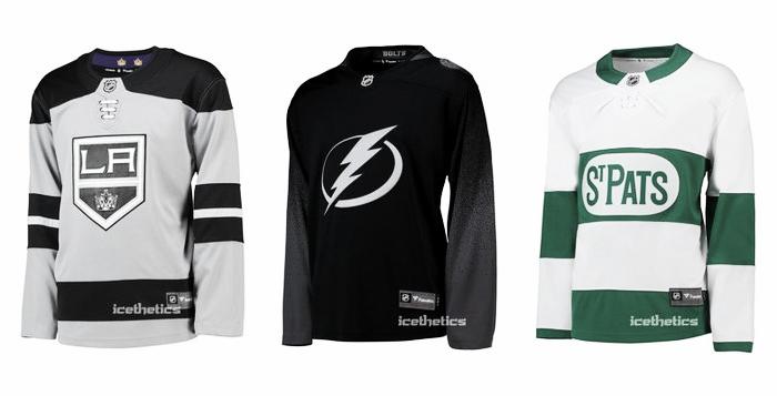 La tienda online de la NHL muestras las equipaciones alternativas | Foto:icethetics.com