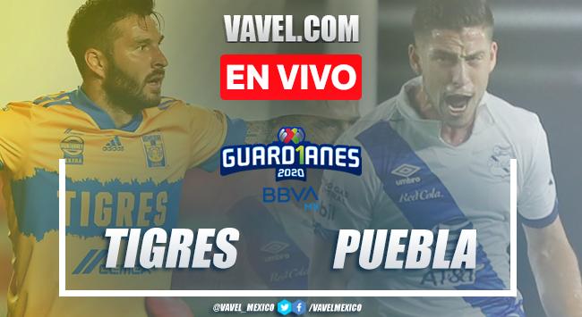Goles y resumen:Tigres 2-1 Puebla en Liga MX Guard1anes 2020