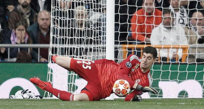 Thibaut Courtois en un partido con el Real Madrid. Fuente: Real Madrid.