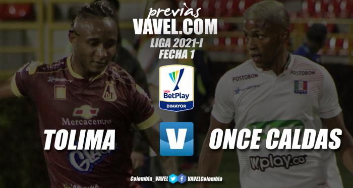 Previa Deportes Tolima vs Once Caldas: a iniciar el año con victoria
