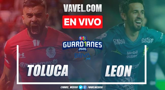 Goles y resumen: Toluca 2-2 León en Liga MX Guard1anes 2020