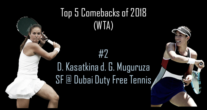 Daria Kasatkina saved three match points to defeat Muguruza in Dubai | Edit: Don Han