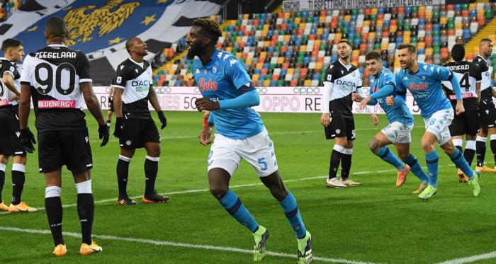 Serie A - Bakayoko al 90' regala i tre punti al Napoli: 1-2 all'Udinese