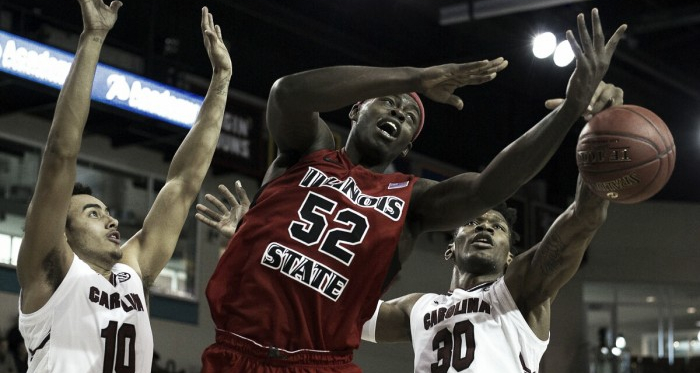 Malik Yarbrough drives to the basket in Myrtle Beach/Photo: Joshua S. Kelly/USA Today Sports