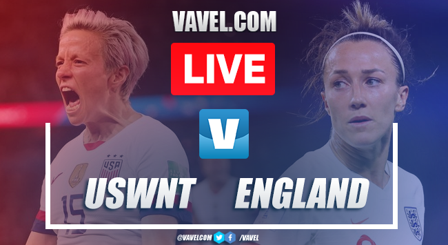 England vs USWNT Live Score and Stream Updates (1-1)