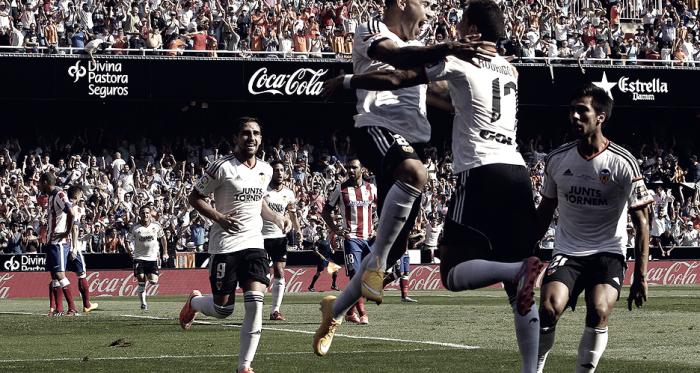 El Valencia no gana al Atlético de Madrid desde 2.014
