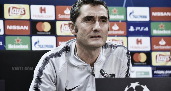 Ernesto Valverde en la rueda de prensa previa de Champions | Foto: Noelia Déniz (VAVEL)