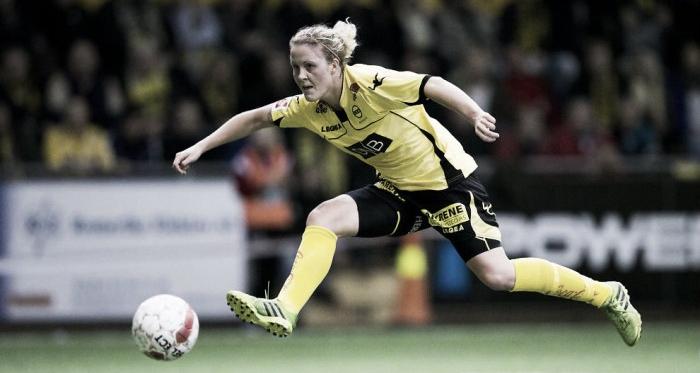 Isabell herlovsen scored four goals and is the name on everyones lips. Source: Vegard Wivestad Grøtt / NTB Scanpix
