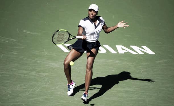 Venus Williams durante su partido ante Petkovic en Indian Wells. Foto: gettyimages.es