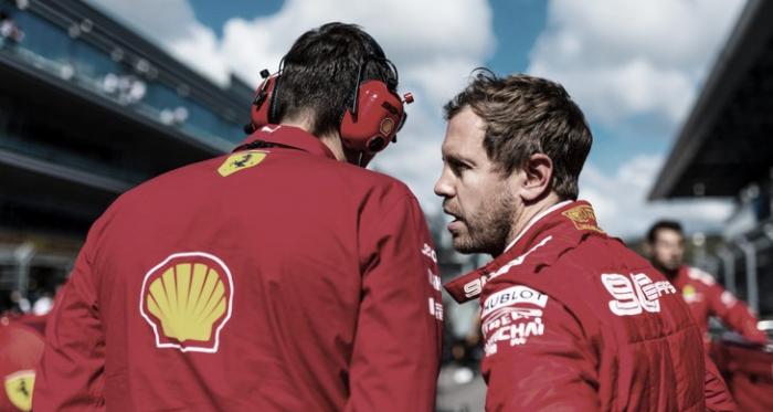 Sebastian Vettel teve que abandonar a pista na primeira metade da prova (Foto: Reprodução/Ferrari)