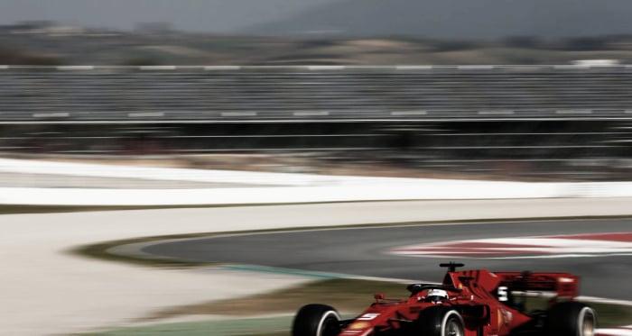 Fotografía: Vettel en los test de pretemporada.<div>Fuente: F1.</div>