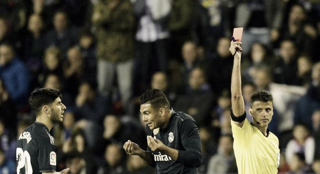 Cuatro expulsados en los últimos cinco partidos del Madrid