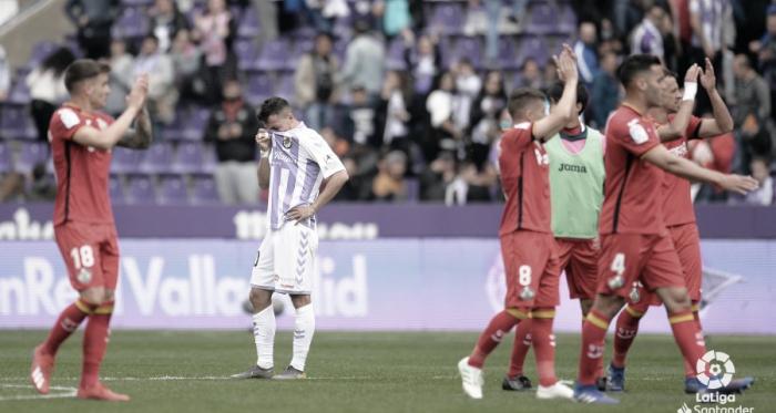 Óscar Plano llora desconsolado al finalizar el encuentro // Foto: La Liga