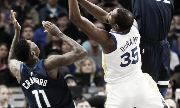 Durant en el triunfo de los Golden (Foto: NBA).