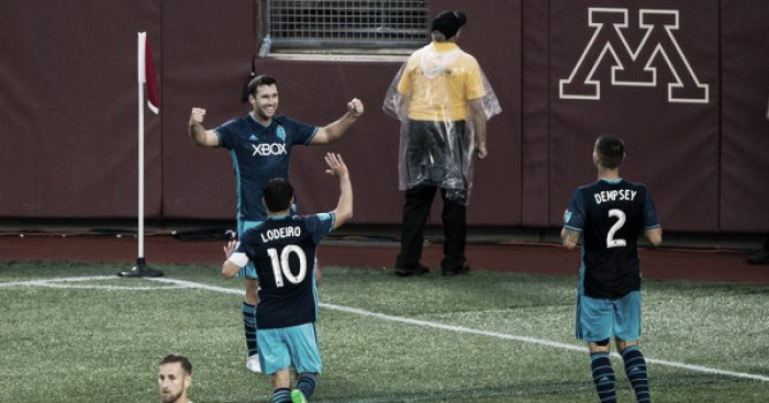 The Sounders' frontmen make the most of their chances against Minnesota | Source: Brad Rempel-USA TODAY Sports