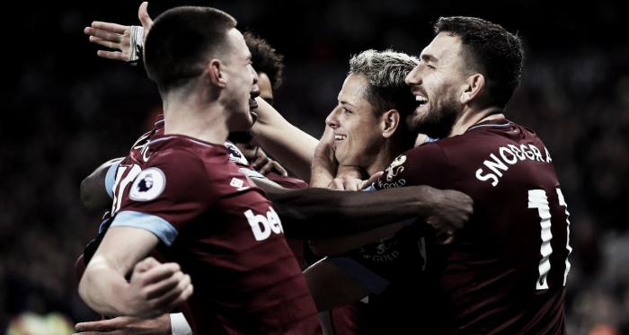 West Ham sonríe tras el cuarto tanto   Foto: Getty Images.