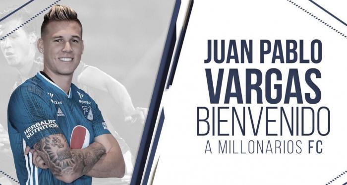 Juan Pablo Vargas, nuevo central de Millonarios