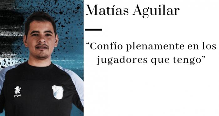 """Entrevista.MatíasAguilar: """"Espero cumplir con los objetivos"""""""