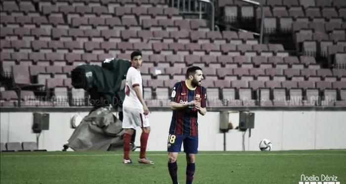 """Jordi Alba: """"Si no ganábamos hoy, la temporada se habría hecho larga"""""""