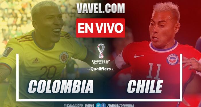 Resumen: Colombia (3-1) Chile en las Eliminatorias Catar 2022