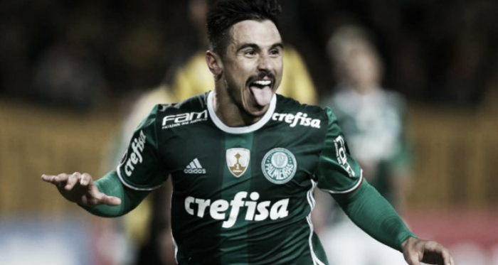 William comemora gol da virada (Foto: César Greco/Ag. Palmeiras)