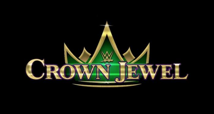Crown Jewel banner. Photo credit: wwe.com