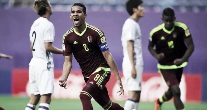 Yangel Herrera con la selección de Venezuela | Foto: AFP
