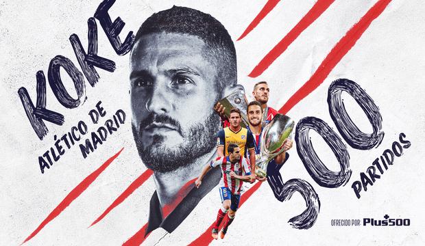 Koke cumple 500 partidos con la camiseta del Atlético de Madrid