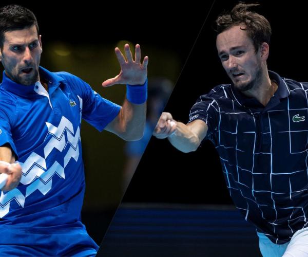 Summary and highlights of  Djokovic 0-3 Medvedev