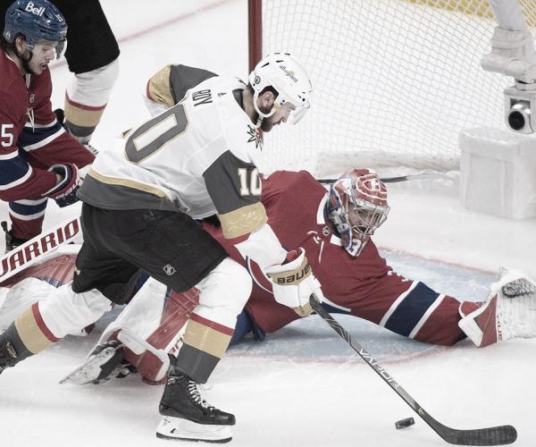 Golden Knights ganaron en tiempo extra en Montreal y empataron la serie