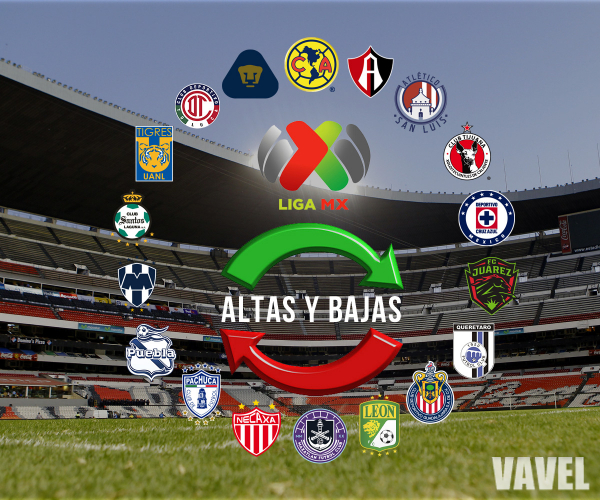 Altas y bajas oficiales de la Liga MX para el Guard1anes 2021