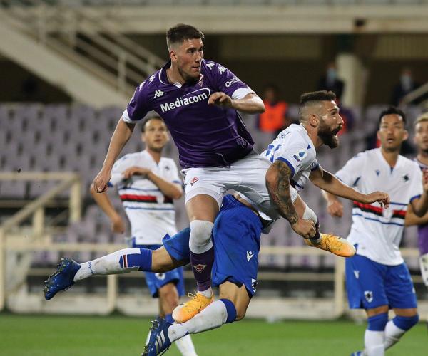Serie A- Verre firma l'allungo decisivo, Sampdoria corsara a Firenze (1-2)