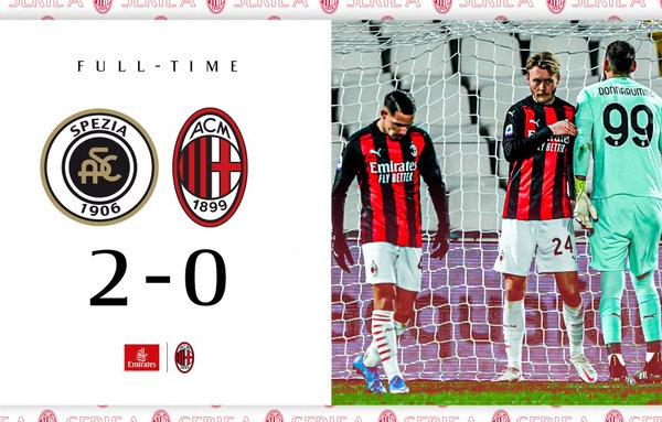 Milan senz'anima: lo Spezia batte la capolista per 2-0