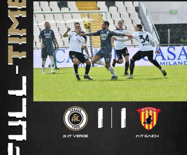 Il match-salvezza finisce in parità: 1-1 tra Spezia e Benevento