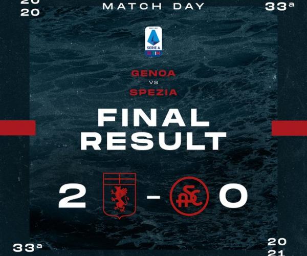 Serie A: il Genoa batte 2-0 lo Spezia nello spareggio salvezza