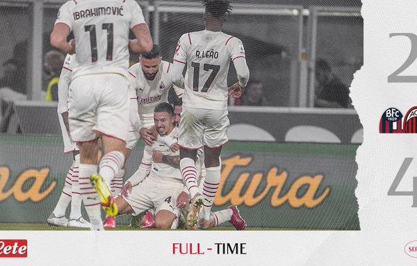 Sofferenza e vittoria: il Milan batte il Bologna per 4-2