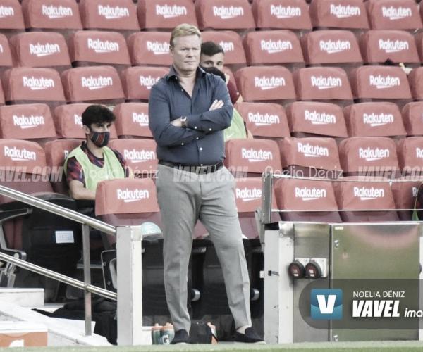 """Koeman: """"Ojalá estemos más tranquilos después de las declaraciones de Messi"""""""