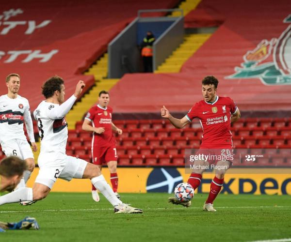 Liverpool 2-0 Midtjylland: Jota and Salah goals hand Reds victory