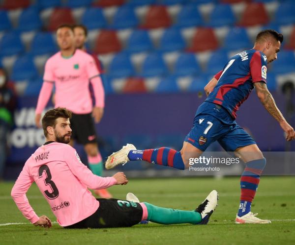 Levante 3-3 Barcelona: Barcelona self-dent their title hopes to draw at the Estadio Ciudad de Valencia