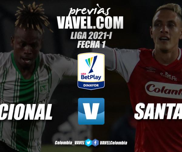 Previa Atlético Nacional vs. Independiente Santa Fe: el comienzo de la era Guimarães
