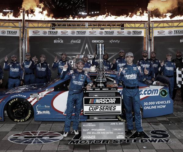 NASCAR Cup: Larson logró una victoria millonaria en Texas