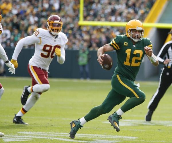 Packers ligan sexta victoria seguida a costa de Washington